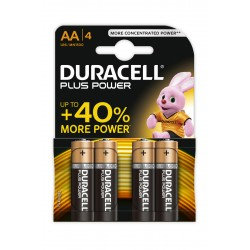 4 Piles alcalines LR6/AA Duracell Plus Power