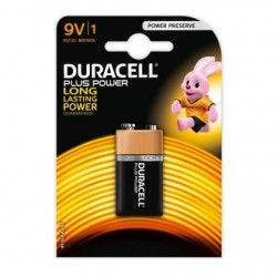 1 Pile Duracell Plus Power Alkaline 9V 6LF22